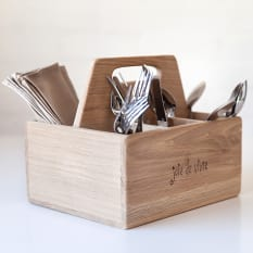 Laid Back Company Joie de Vivre Cutlery and Condiment Box
