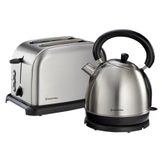 Russell Hobbs Brushed Stainless Steel Kettle & 2 Slice Toaster Set