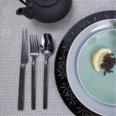 Nicolson Russell Private Collection Malta Titanium Black Cutlery Set