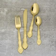 Eetrite Windsor 16 Piece Gold Cutlery Set