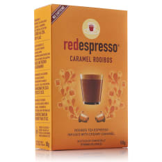 Red Espresso Caramel Rooibos Capsules, Box of 10