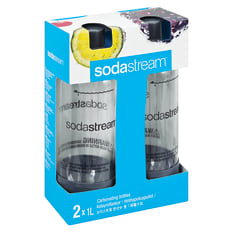 Sodastream Screw Fit 1 litre PET Bottles, Set of 2