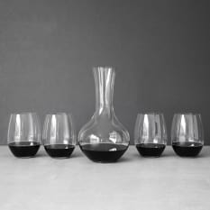 Riedel O Stemless Red Wine Glasses with 1 Litre Decanter