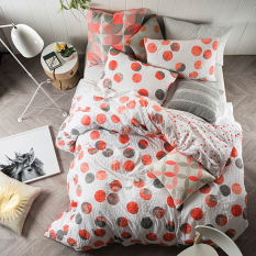 Linen House Tika Coral Duvet Cover Set