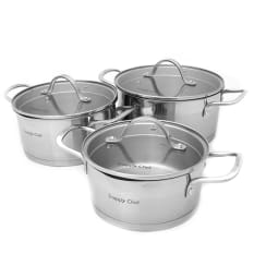 Snappy Chef 6 Piece Platinum Cookware Set