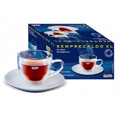 Caffitaly Double Walled Glass Cappuccino Cups, Set of 2