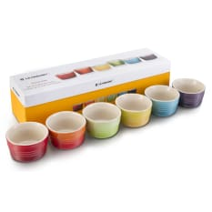 Le Creuset Rainbow Collection Mini Ramekins, Set of 6