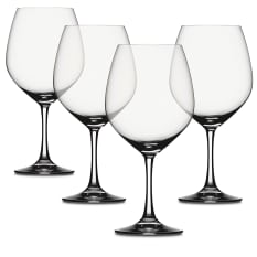 Spiegelau Lead-Free Crystal Vino Grande Burgundy Wine Glasses, Set of 4