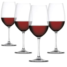 Spiegelau Lead-Free Crystal Salute Bordeaux Wine Glasses, Set of 4