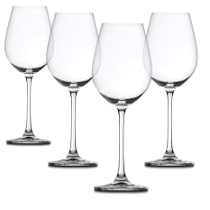 Spiegelau Lead-Free Crystal Salute White Wine Glasses, Set of 4