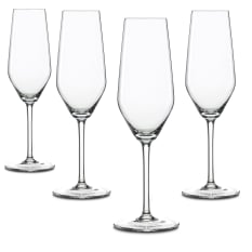 Spiegelau Lead-Free Crystal Style Champagne Flutes, Set of 4