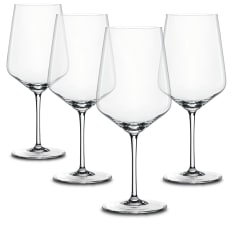 Spiegelau Lead-Free Crystal Style Red Wine Glasses, Set of 4