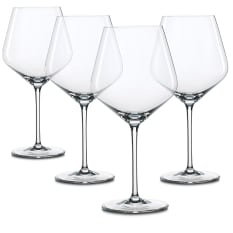 Spiegelau Lead-Free Crystal Style Burgundy Wine Glasses, Set of 4