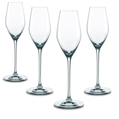 Nachtmann Lead-Free Crystal Supreme Champagne Flutes, Set of 4