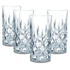 Nachtmann Lead-Free Crystal Noblesse Highball Glasses, Set of 4