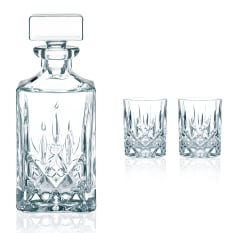 Nachtmann Lead-Free Crystal Noblesse Decanter & Whiskey Glasses, Set of 3