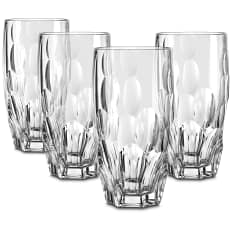 Nachtmann Lead-Free Crystal Sphere Highball Glasses, Set of 4