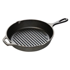 Lodge Cast Iron Round Grill Pan, 26cm
