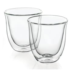 DeLonghi Double Walled Thermo Cappuccino Glasses, Set of 2