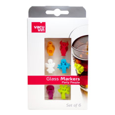 Vacu Vin Glass Markers Party People, Set of 6