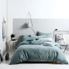 Linen House Willow Stone Blue Duvet Cover Set