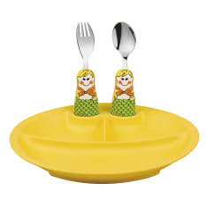 Eat4Fun Mermaid Kids Cutlery and Dish Kit, Set of 3