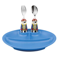 Eat4Fun Pirate Kids Cutlery and Dish Kit, Set of 3