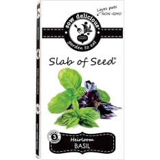 Sow Delicious Gourmet Slab of Seed Basil