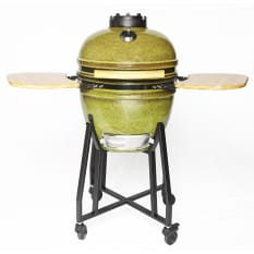 Gpod Green Medium Ceramic Outdoor Oven, 45cm