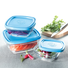 Duralex Freshbox Stackable Square Bowl with Lid