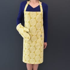 Indigi Designs Striped Dot Apron & Oven Glove, Set of 2