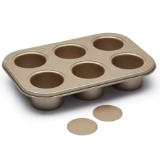 Paul Hollywood 6 Hole Loose Base Deep Pan