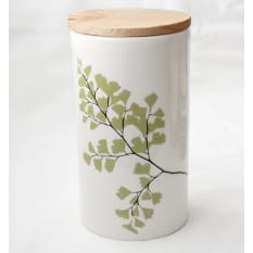 Love Milo Tall Storage Jar with Wooden Lid