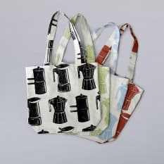 Lichen & Leaf Moka Pot Design Canvas Tote Bag