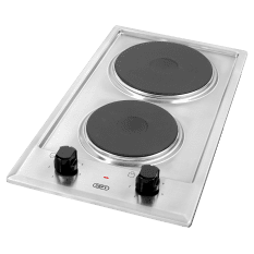 Defy Built-In Domino 2 Plate Solid Electric Hob