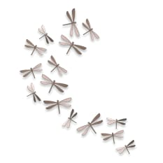 Umbra Nickle Dragonflies Wallflutter, Set of 20