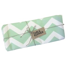 Zana Screen Printed Cotton Chevron Table Runner
