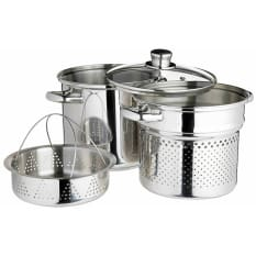 KitchenCraft World of Flavours Italian Stainless Steel Pasta Pot Set