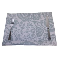 DSA Table Linen Specialists Earth Stone Jacobean Placemats, Set of 6
