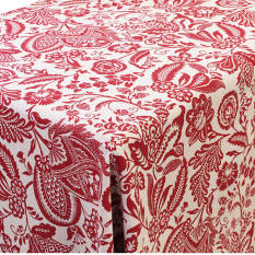 Balducci Earth Stone Jacobean Red Tablecloth