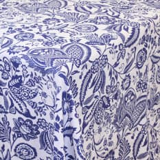 Balducci Earth Stone Jacobean Blue Tablecloth