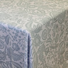 DSA Table Linen Specialists Earth Stone Jacobean Duck Egg Tablecloth