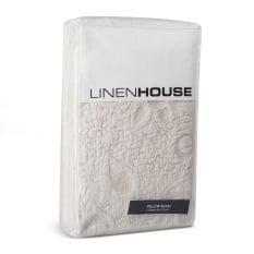 Linen House Chantel Standard Moonbeam Embroidered Cotton Pillowcase Sham
