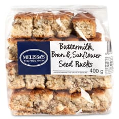 Melissa's Buttermilk, Bran & Sunflower Seed Rusks, 400g