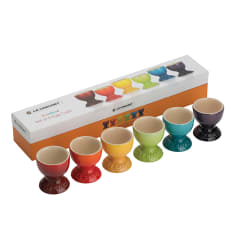 Le Creuset Rainbow Collection Egg Cups, Set of 6
