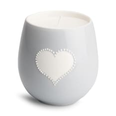 Urchin Art Vanilla Scented Candle in Ceramic Pot with Heart Design