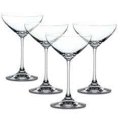 Spiegelau Lead-Free Crystal Champagne Saucer Glasses, Set of 4