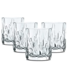 Nachtmann Lead-Free Crystal Shu Fa Whiskey Glasses, Set of 4