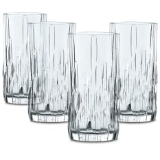 Nachtmann Lead-Free Crystal Shu Fa Longdrink Glasses, Set of 4