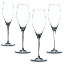 Nachtmann Lead-Free Crystal Vinova Champagne Glasses, Set of 4
